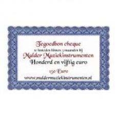 Waardebon 150,00 te besteden bij Mulder Muziekinstrumenten