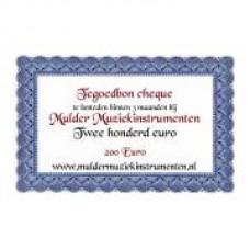 Waardebon 200,00 te besteden bij Mulder Muziekinstrumenten