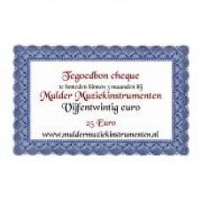 Waardebon 25,00 te besteden bij Mulder Muziekinstrumenten