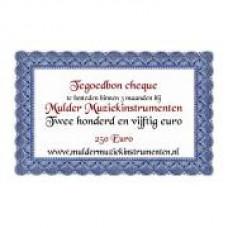 Waardebon 250,00 te besteden bij Mulder Muziekinstrumenten