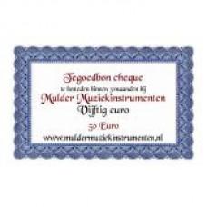 Waardebon 50,00 te besteden bij Mulder Muziekinstrumenten