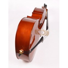 Cello 3/4, gelamineerde body, nitro, palissander toets en stemsleutels, draagtas, strijkstok en Europese snaren!