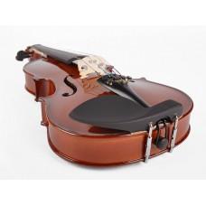 Viool set 4/4, hardhout toebehoren, inclusief koffer, strijkstok, fijnstemmer staartstuk