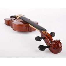 Viool set 3/4, hardhout toebehoren, inclusief koffer, strijkstok, fijnstemmer staartstuk