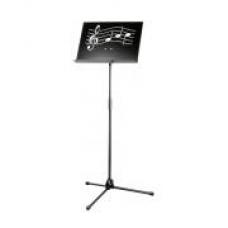 Muziekstandaard in/uit schuifbaar met een dichte lessenaar met noten motief!